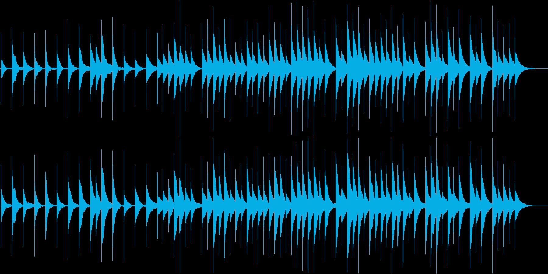 ゆったりとした優しいオルゴールBGMの再生済みの波形