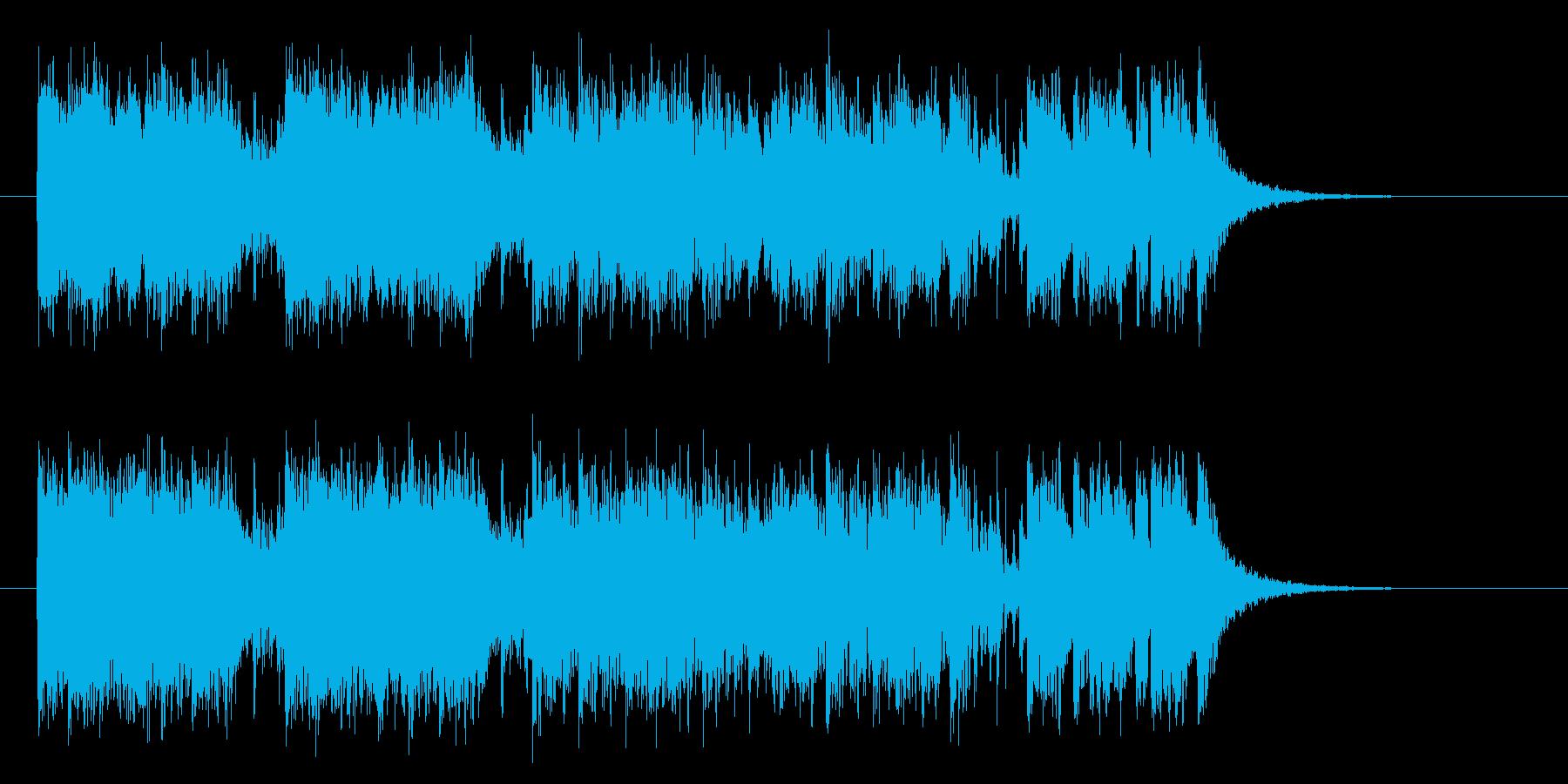 エレキギターがダイナミックなヘヴィメタルの再生済みの波形