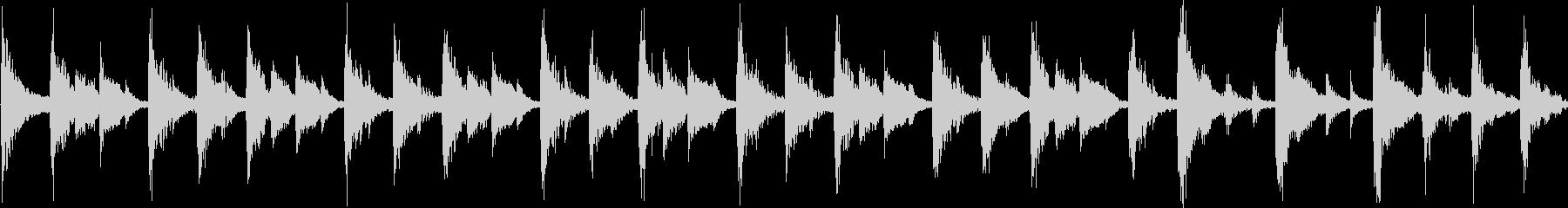 軽快なリズムのコミカルなジングル_ループの未再生の波形