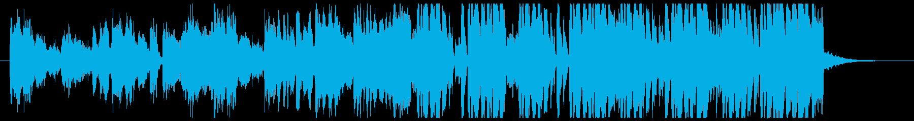 淡々としているが明るめのファンクの再生済みの波形