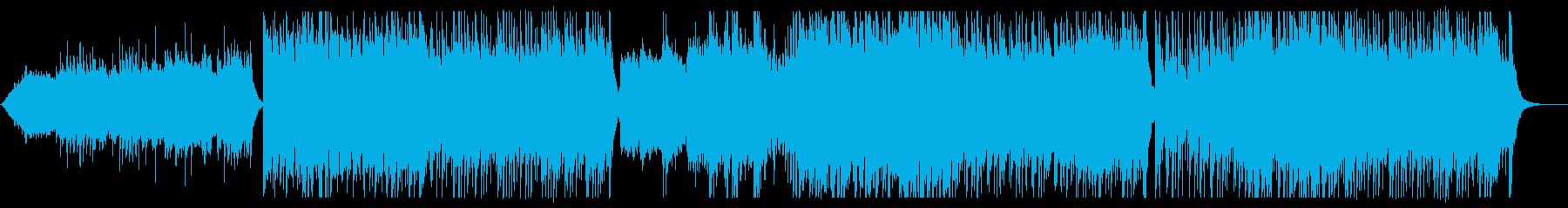 迫力のある和風の弦管楽器のサウンドの再生済みの波形