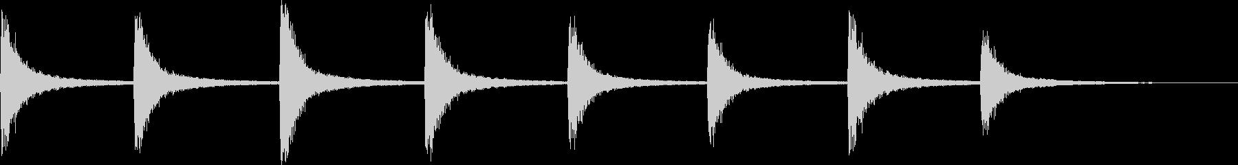 半鐘の未再生の波形