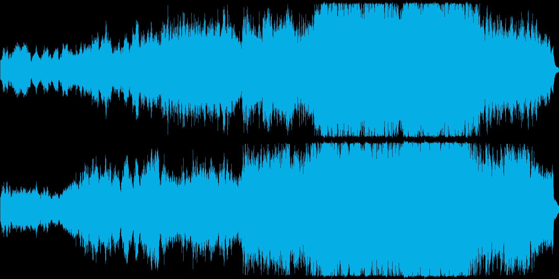 神聖で感動的なコーラスとオーケストラ作品の再生済みの波形