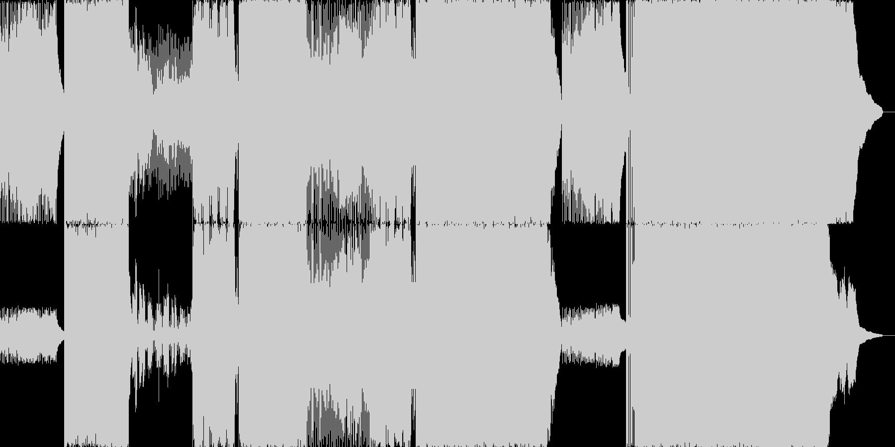 エモ系ロックバンドの壮大なバラードの未再生の波形