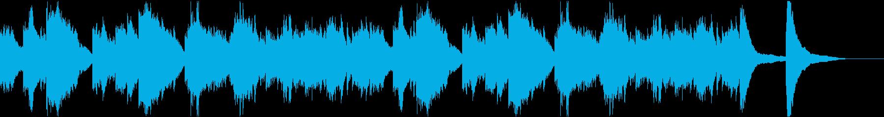 旅人の心情的な音楽の再生済みの波形