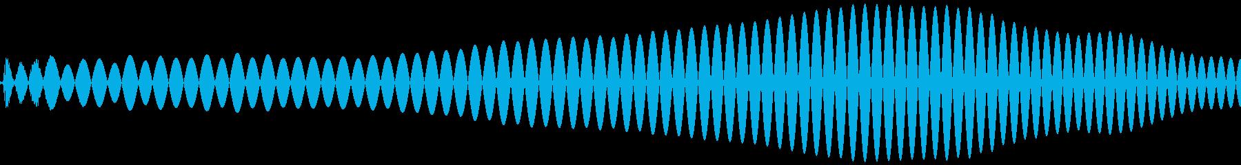 ポワ(コミカル、可愛い音)の再生済みの波形