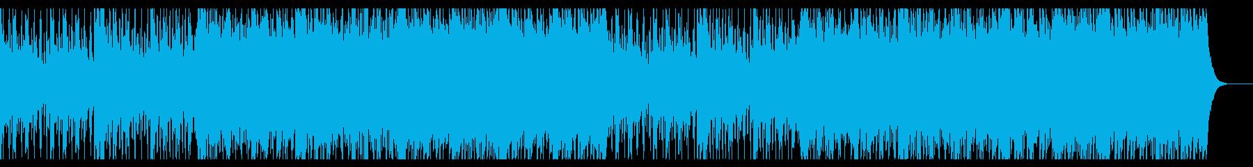 挑戦心をイメージしたクールなピアノハウスの再生済みの波形