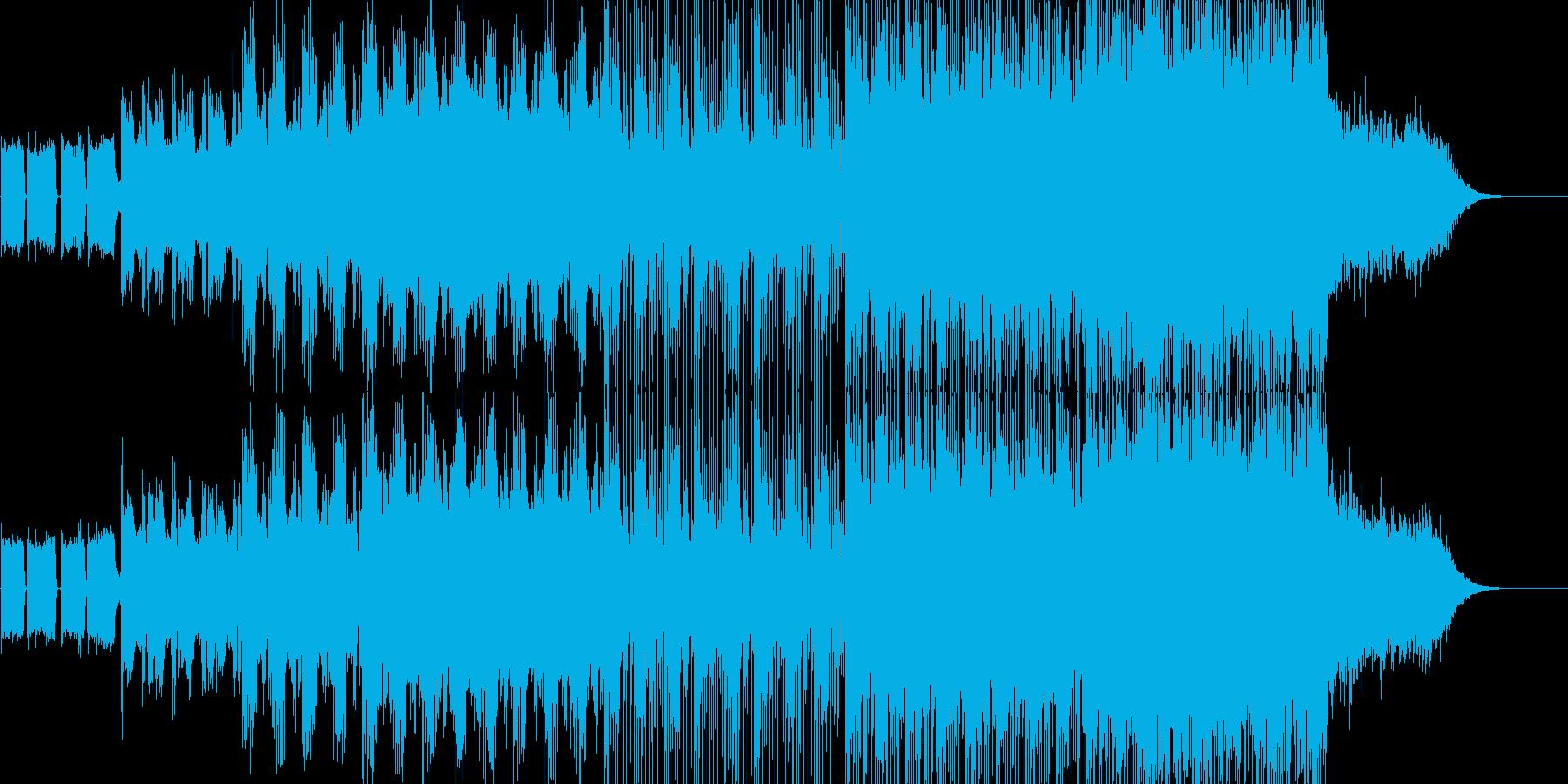 [劇伴] 緊迫サスペンス ギター&シンセの再生済みの波形