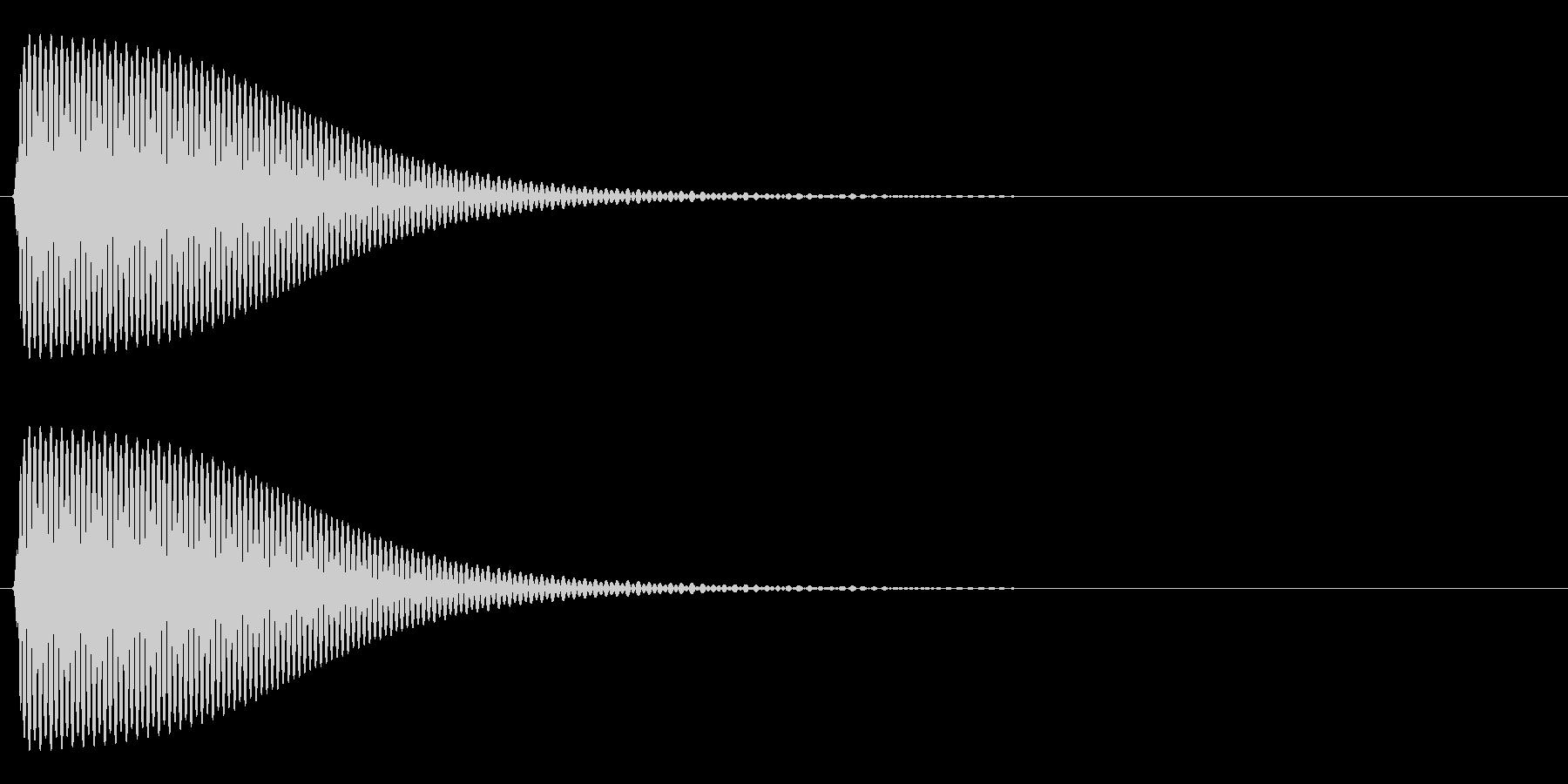 Com ファミコンなどのコマンド音 12の未再生の波形