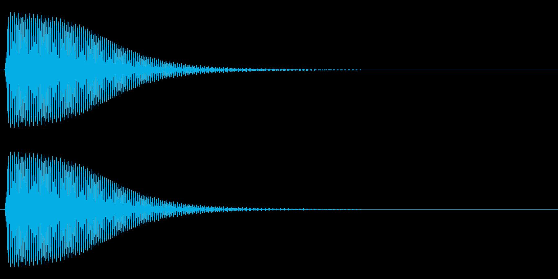 Com ファミコンなどのコマンド音 12の再生済みの波形