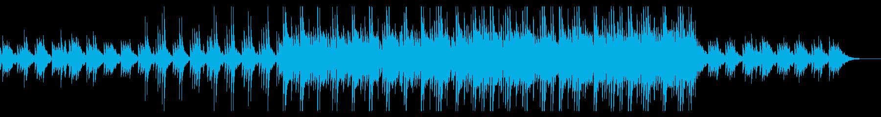 浮遊感ある瑞々しいシンセサイザーの曲の再生済みの波形