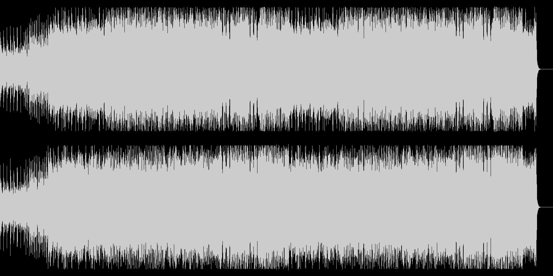 ボス戦をイメージしたロック&オーケストラの未再生の波形