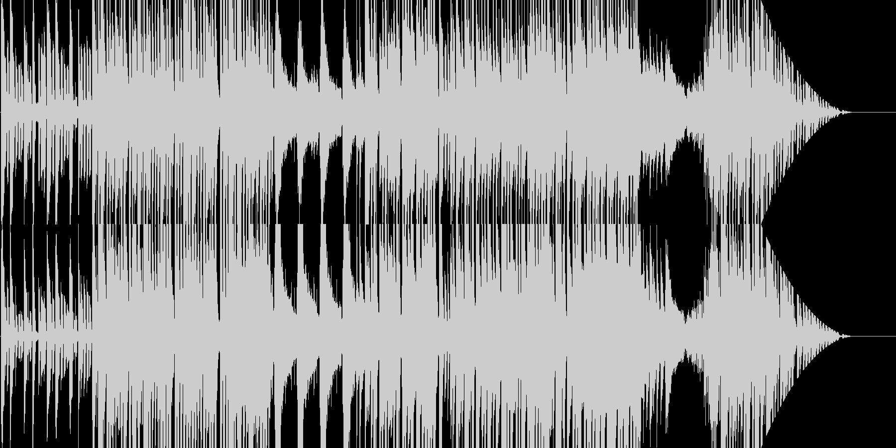 わくわく感溢れるシンセとピアノのポップスの未再生の波形