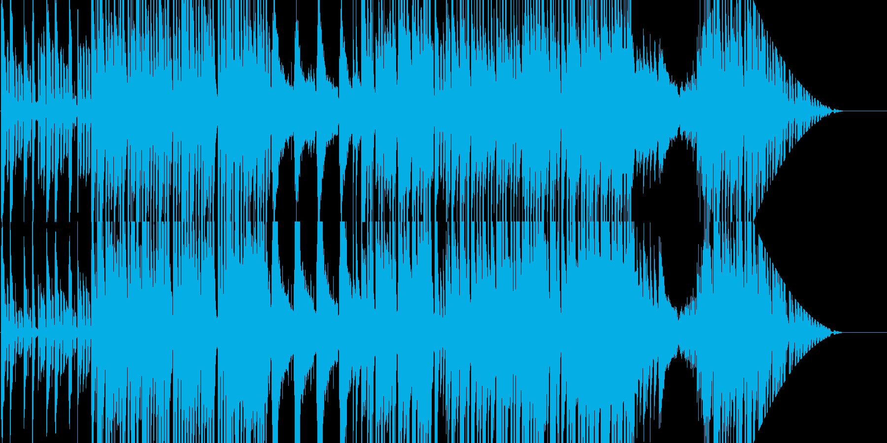 わくわく感溢れるシンセとピアノのポップスの再生済みの波形