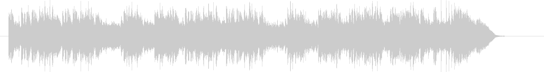 バンド演奏による優しい音色のジングル曲の未再生の波形