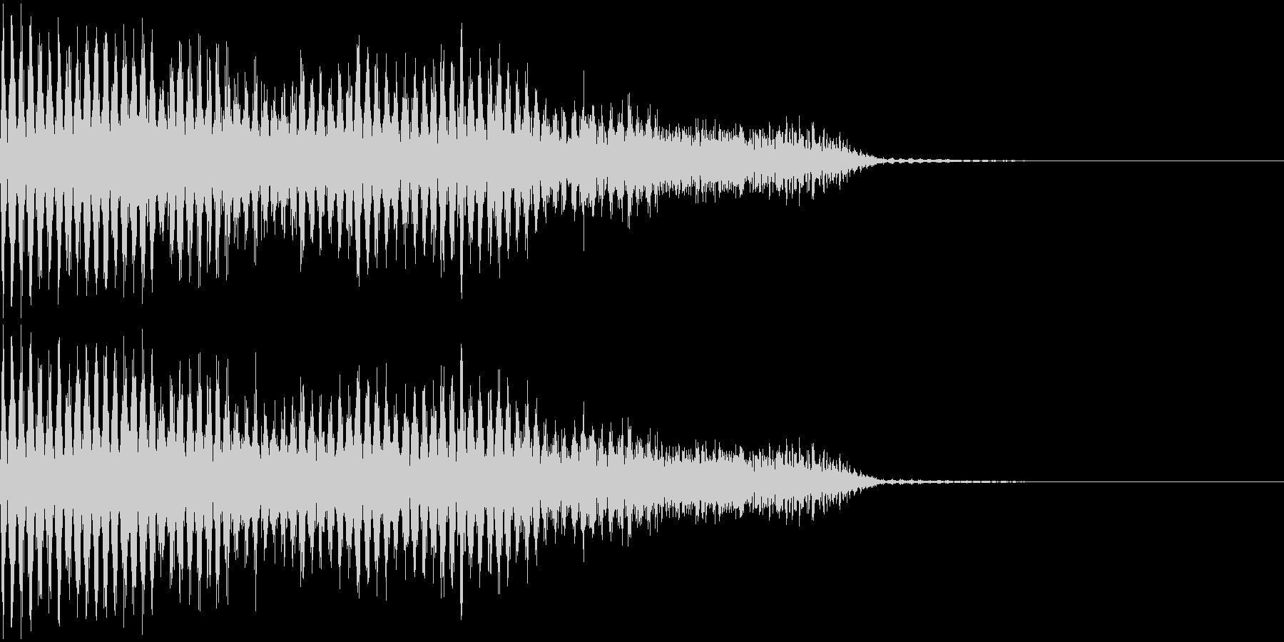ジジジジ・・・(電撃音)の未再生の波形