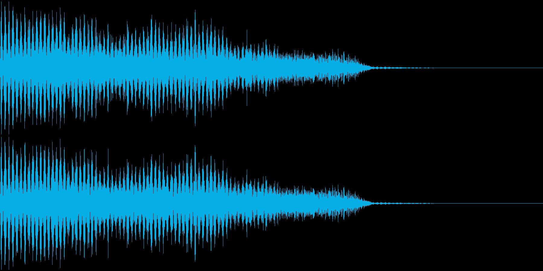 ジジジジ・・・(電撃音)の再生済みの波形