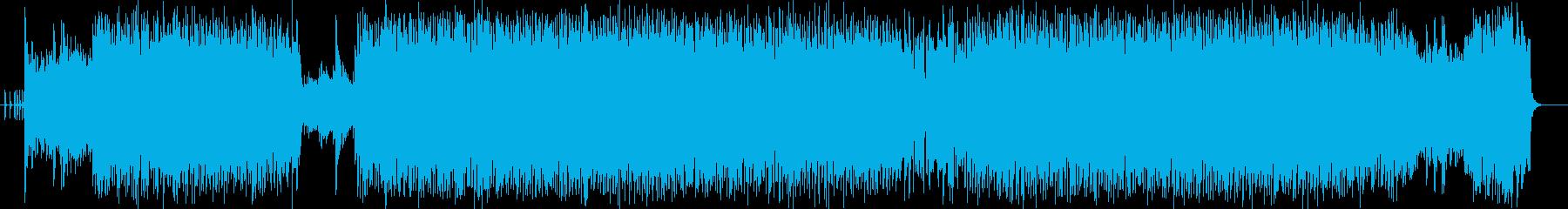 疾走感と激しいドラムギターサウンドの再生済みの波形
