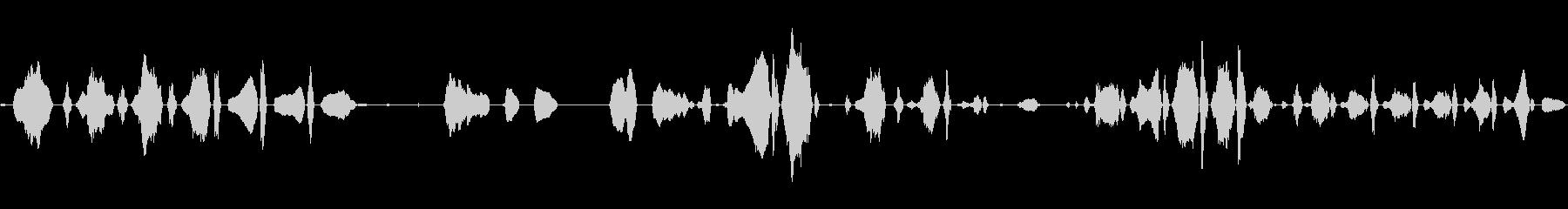 あかちゃん(生後0日)の泣き声2の未再生の波形