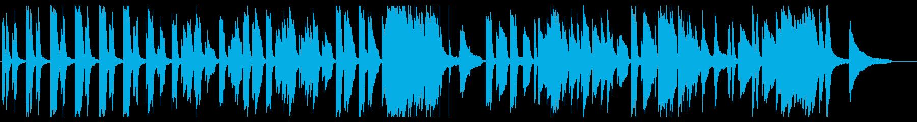 強めな音色でかっこいいメロディーの再生済みの波形