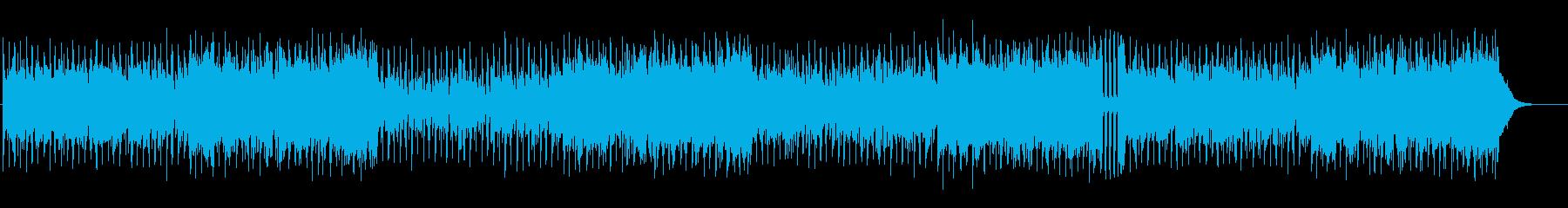 明るくハッピーなリズムとオーケストラの再生済みの波形