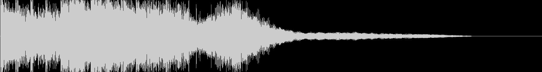 ラジオ 報道 水を感じる爽やかなジングルの未再生の波形