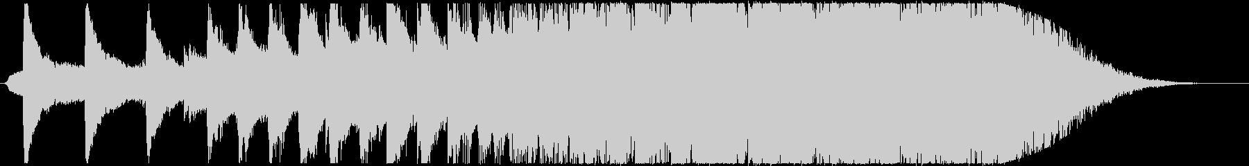 エンドロールの未再生の波形