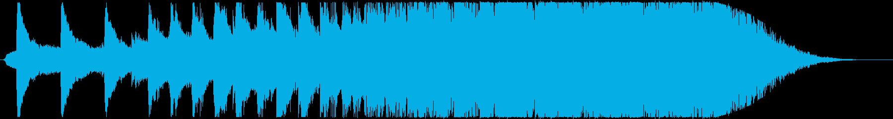 エンドロールの再生済みの波形
