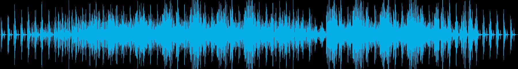 ピアノの多重奏で作られたポップスの再生済みの波形
