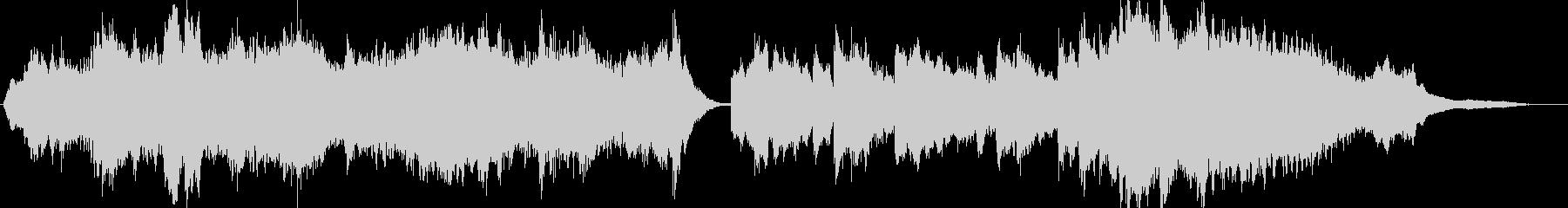 ピアノで軽音楽な曲の未再生の波形