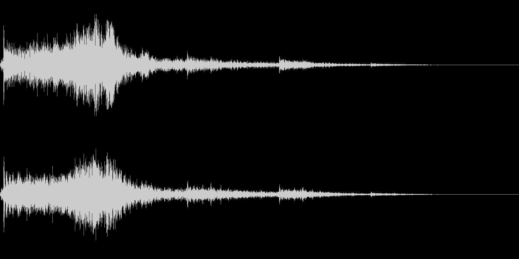 ホラー系導入音の未再生の波形
