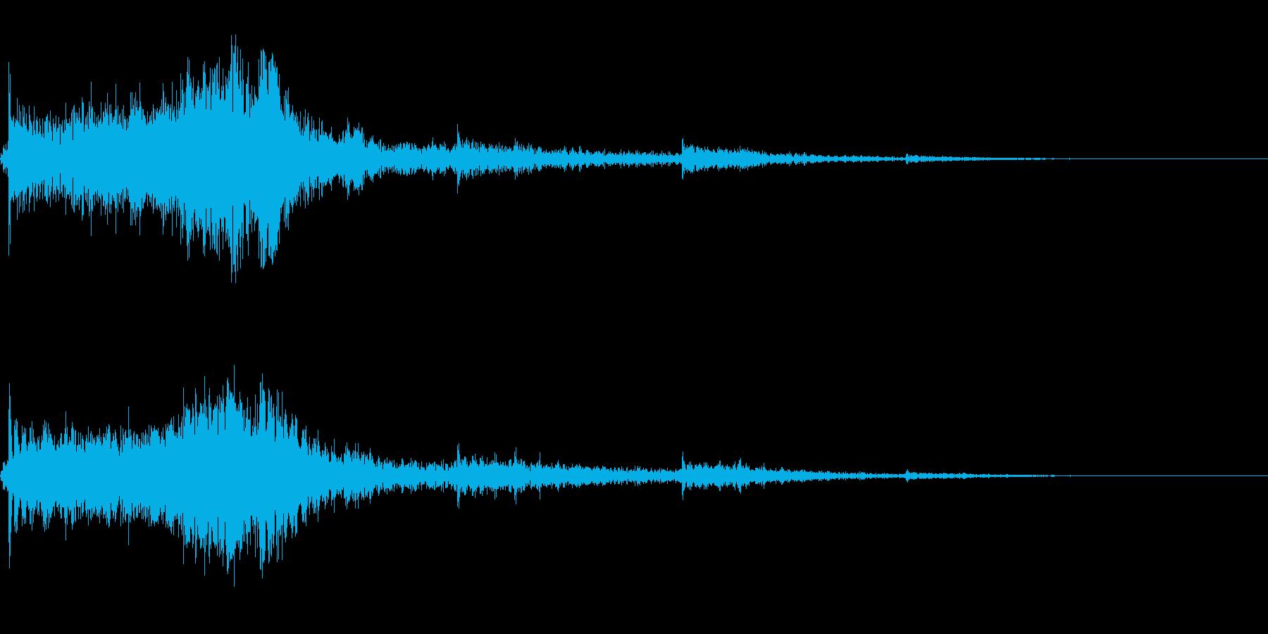ホラー系導入音の再生済みの波形