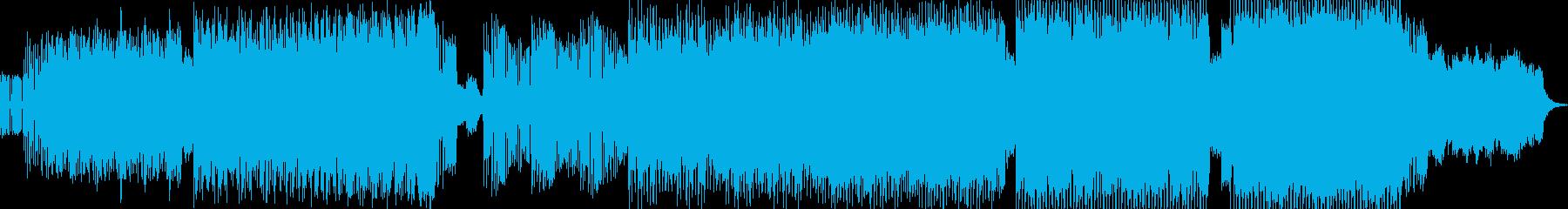 ピアノが印象的なビッグビートの再生済みの波形