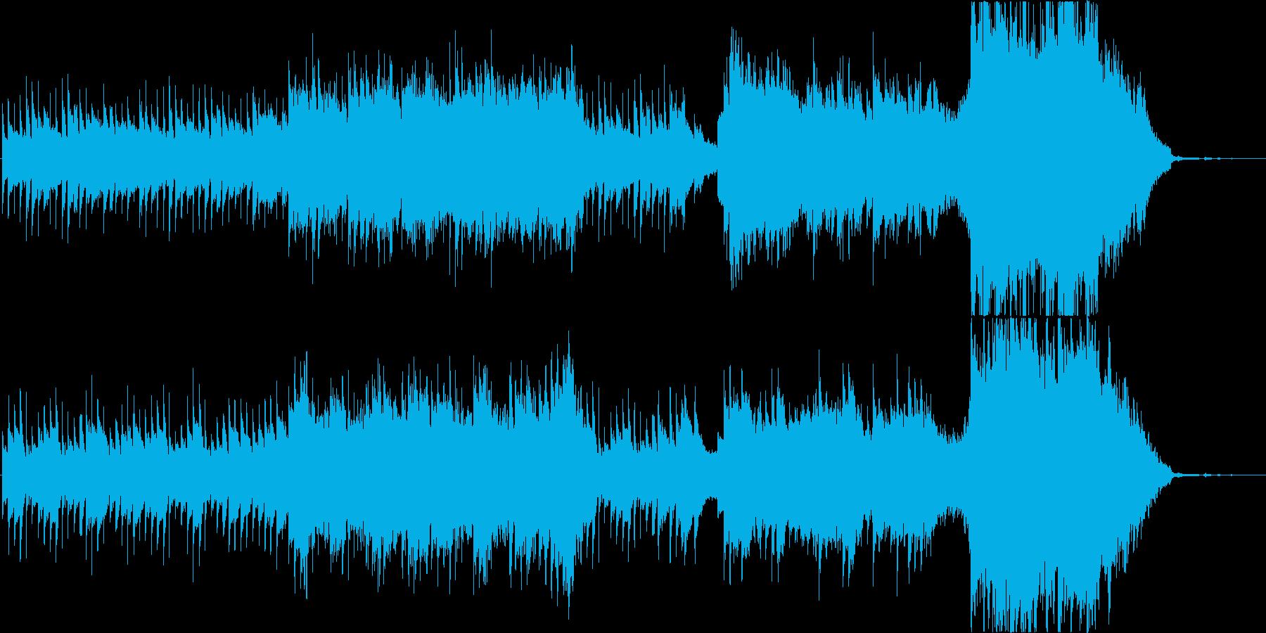 プラネタリウムをイメージしたオーケストラの再生済みの波形