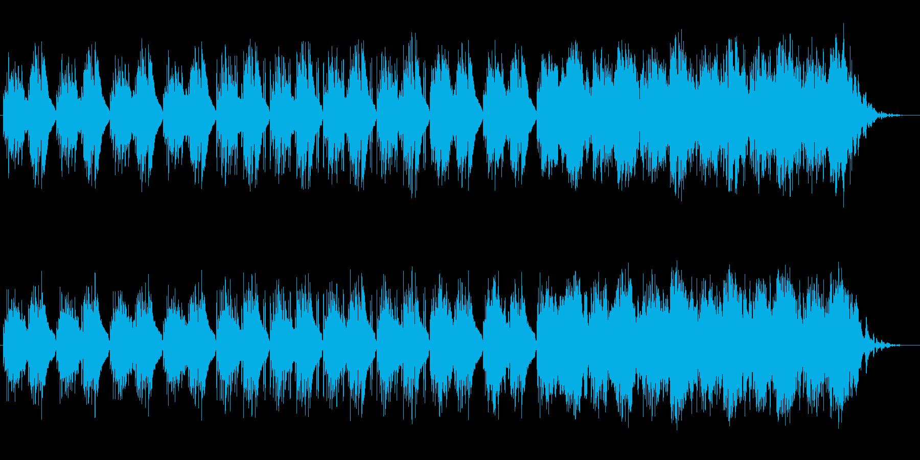 近未来的なヒーリングミュージックの再生済みの波形