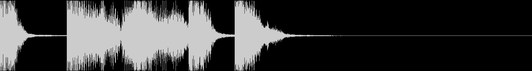 インパクト、イケイケ/サウンドロゴの未再生の波形