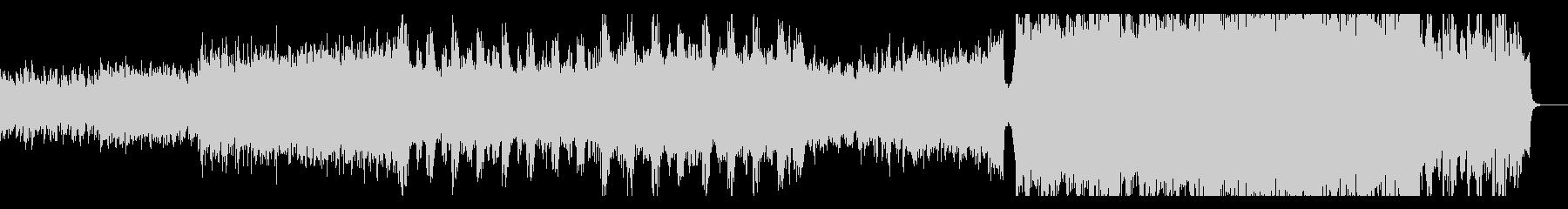 生演奏バイオリン 壮大なエレクトロメタルの未再生の波形