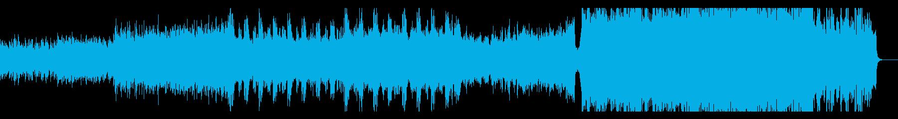 生演奏バイオリン 壮大なエレクトロメタルの再生済みの波形
