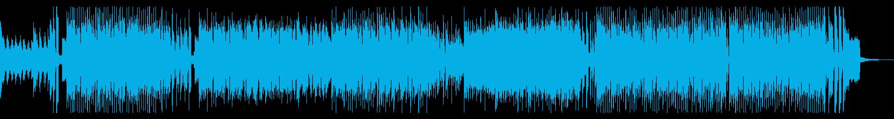 軽快でかっこいいリズミカルなテクノポップの再生済みの波形