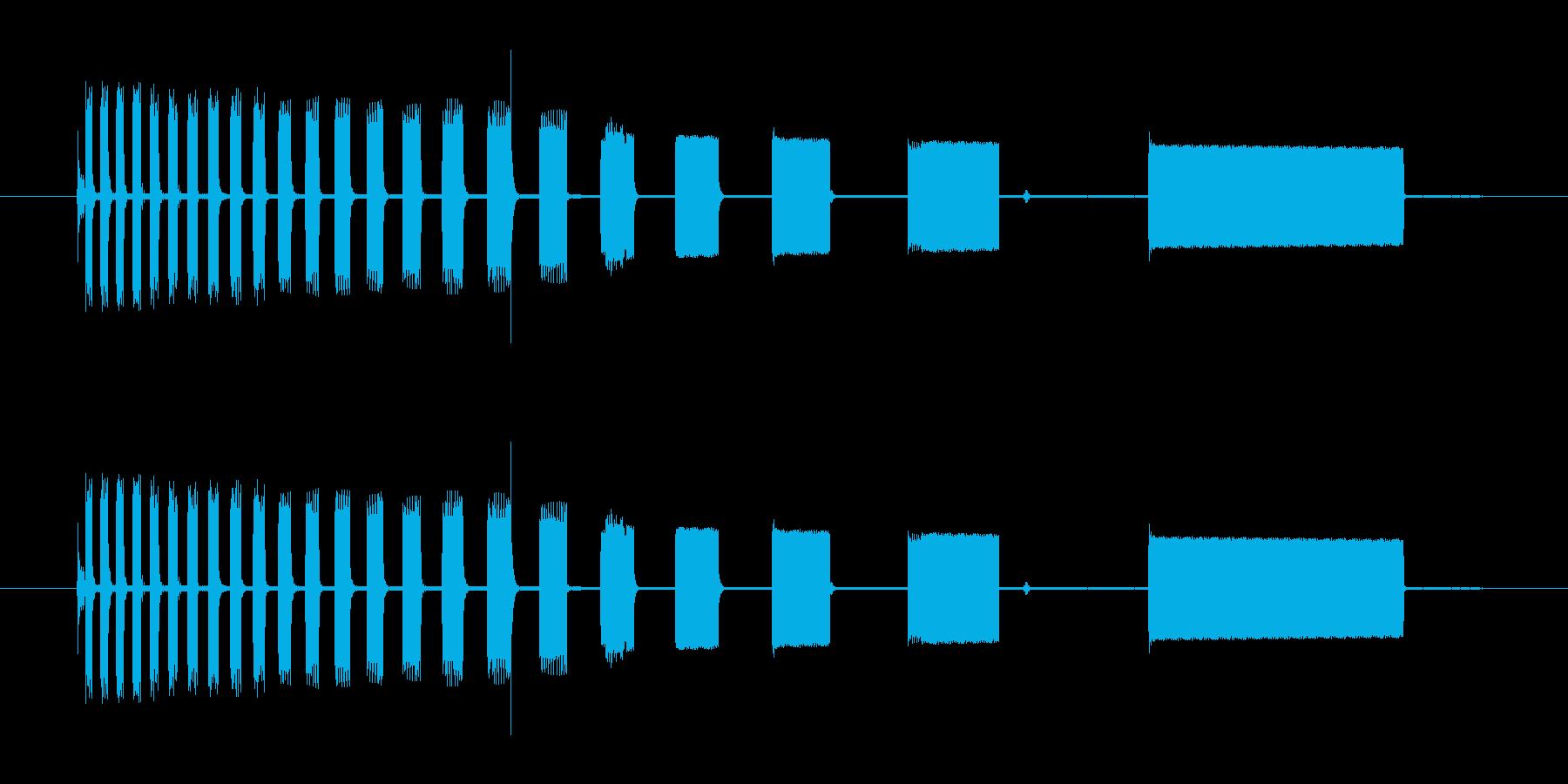 古いパソコンがバグった音の再生済みの波形
