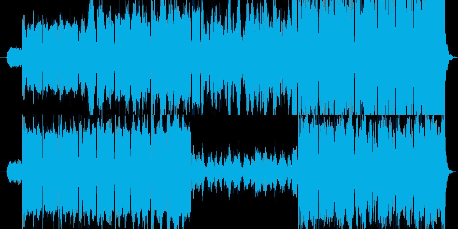 ゆっくりとしたケルト哀愁バグパイプの再生済みの波形
