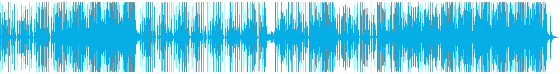 シンプルでキャッチ―なダンスビートの再生済みの波形