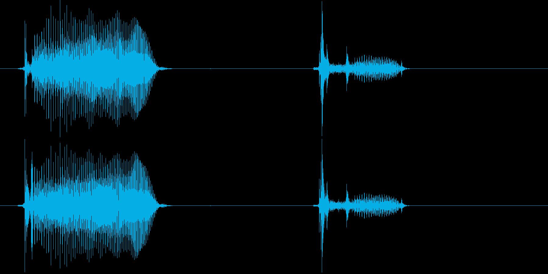 バイク(2歳児の生声です)の再生済みの波形