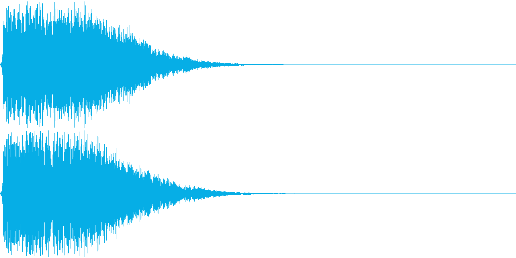 ジャキーン!(派手なインパクト音)の再生済みの波形