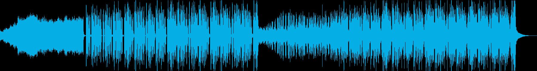 夜の趣があるフューチャーソウル風BGMの再生済みの波形