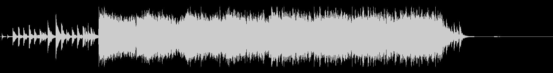 短編映像用のリゾートっぽさのあるBGMの未再生の波形