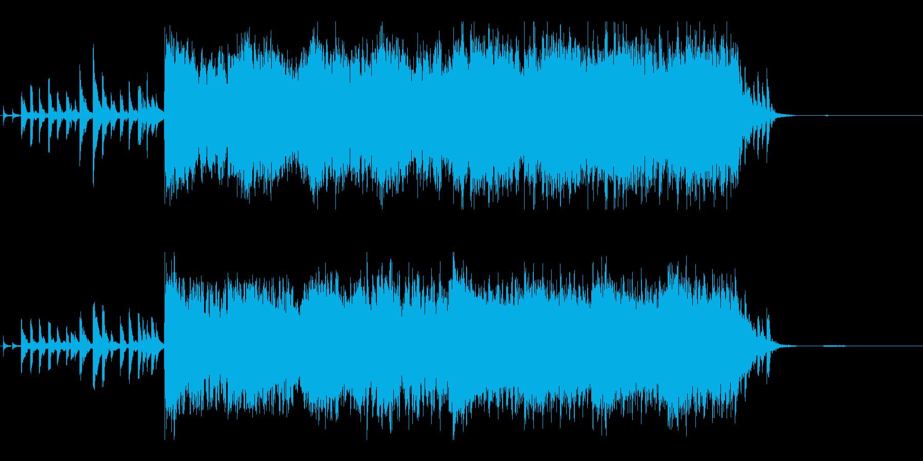 短編映像用のリゾートっぽさのあるBGMの再生済みの波形