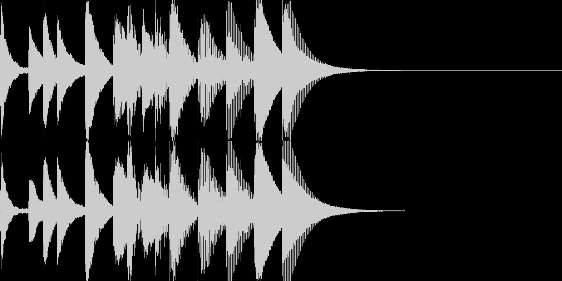 中国的なマリンバのジングルの未再生の波形
