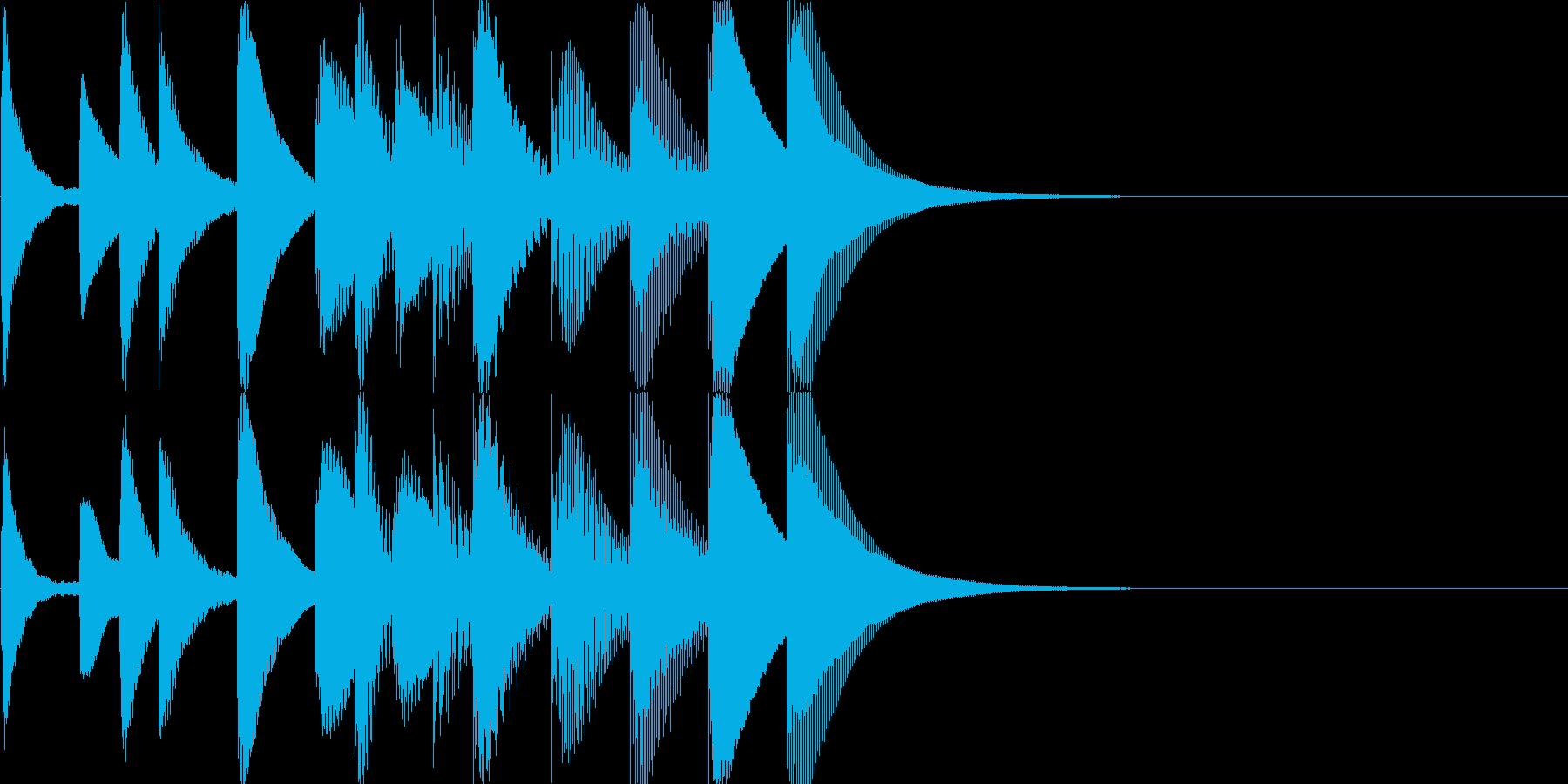 中国的なマリンバのジングルの再生済みの波形