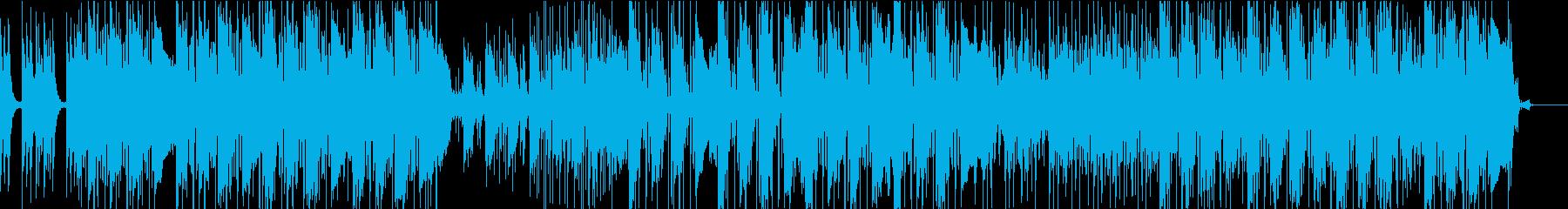 シンセでテンションの上がる曲の再生済みの波形